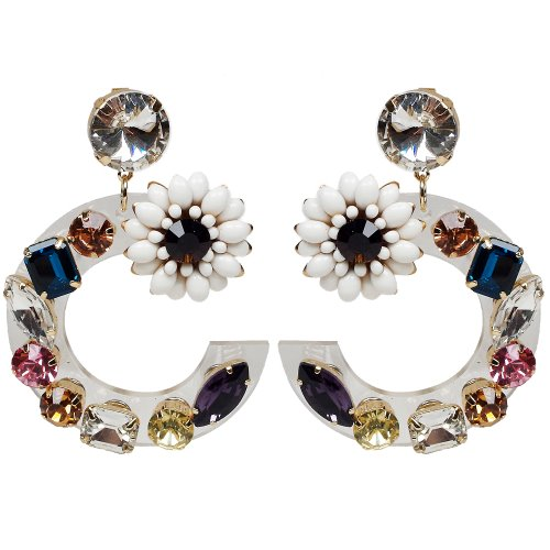 Jewels on Flower Earring [5차 입고!]