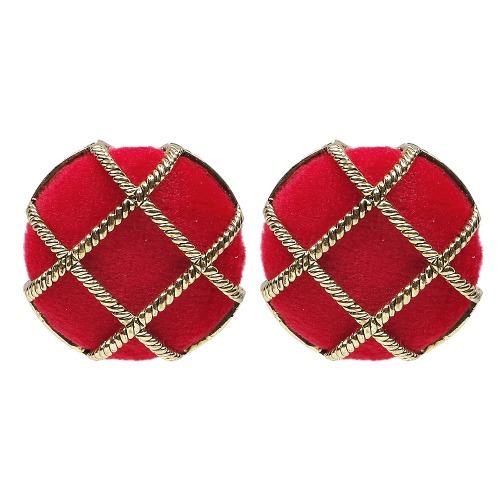 Velvet button Earring (3color) [3차 입고!]
